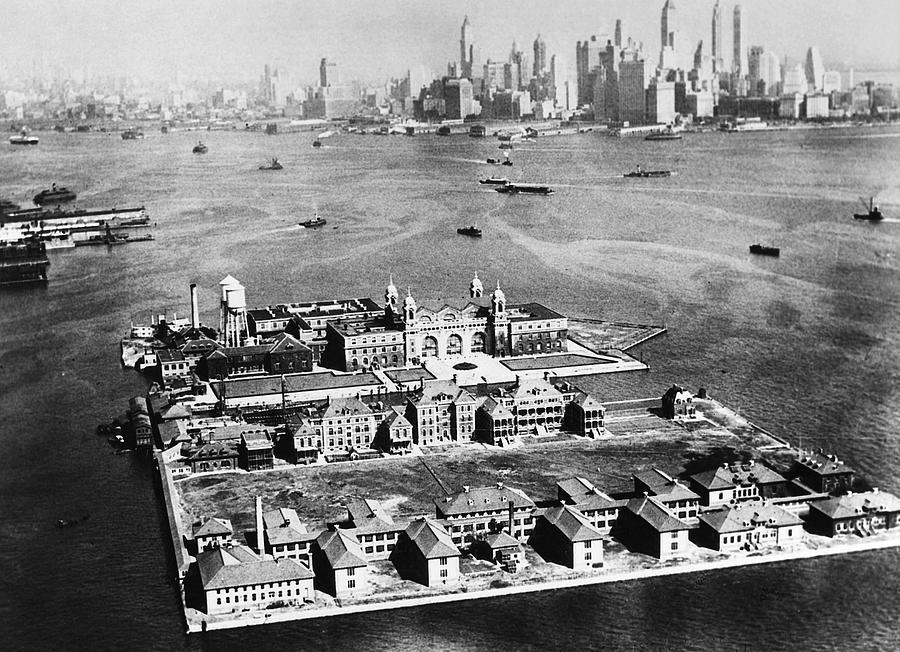 Ellis Island B&W